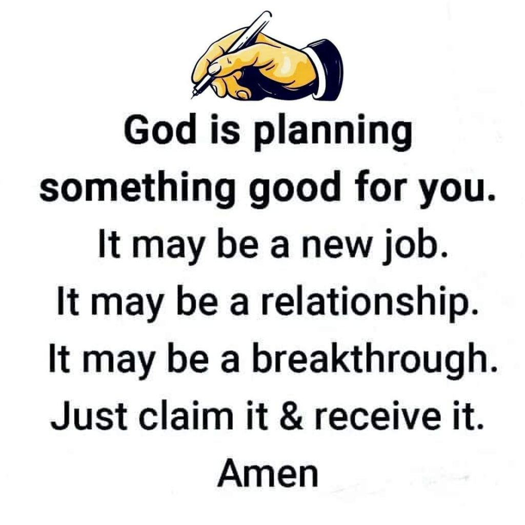 God is planning something