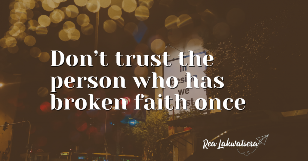 Trust is Truly Indispensable, Be Careful Who You Trust